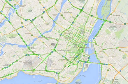 Paul G. St-Aubin, P.Eng., Ph.D. | Work | Maps and Data Google Maps Montreal on
